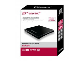 Transcend DVD-RW ZEW USB2.0 BLACK ULTRA SLIM 13.9mm