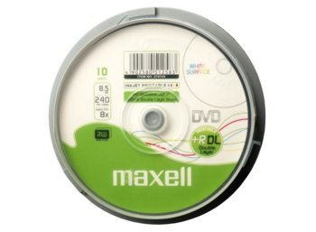 Maxell DVD+R  8,5GB PRINT 8x DOUBLE LAYER CAKE 10