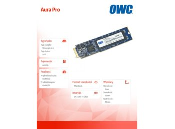 OWC Aura Pro SSD 480GB Macbook Air 2010/2011 285-500MB/s 50-60k IOPS