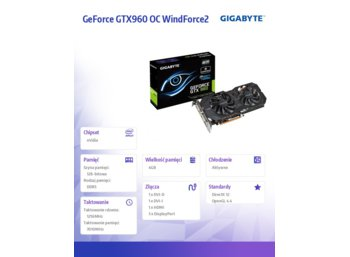 Gigabyte GeForce CUDA GTX960 OC WindForce2 4GB 128BIT 2DVI/HDMI/3DP BOX