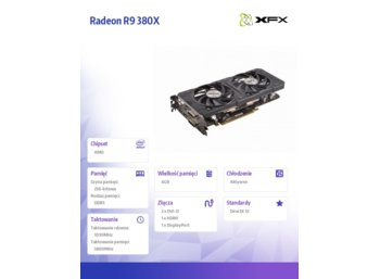 XFX Radeon R9 380X Double Dissipation Black 4GB GDDR5 256-BIT 1030/5800 (DP HDMI 2xDVI)
