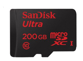 SanDisk Ultra microSDXC 200GB 90MB/s + adapter SD