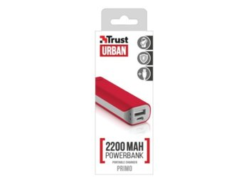 Trust UrbanRevolt Primo PowerBank 2200 Portable Charger - red