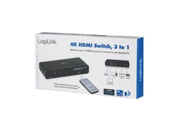 LogiLink Switch 4K HDMI 3 porty