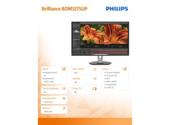 Philips 32'' 3275UP LED UHD,AHIPS,HDMI,USB
