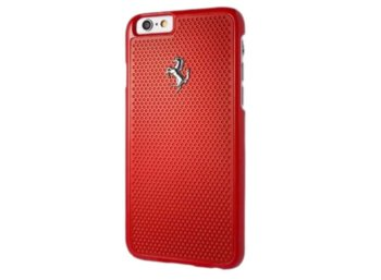 Ferrari Hardcase FEPEHCP6RE iPhone 6/6S perforated aluminium czerwony