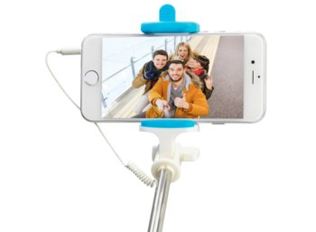 PNY Cable Selfie Stick P-S-WSS001B-RB Blue