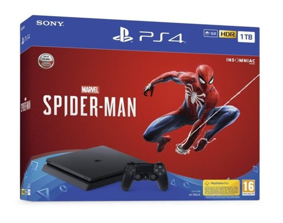 Sony Konsola Playstation 4 1TB Slim + Gra Spider-Man