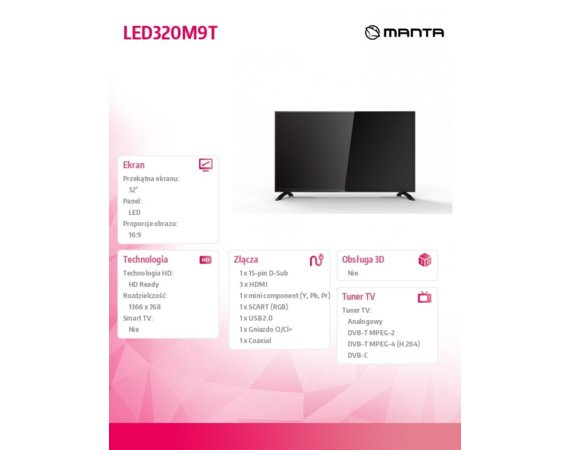Manta 32'' TV LED320M9T