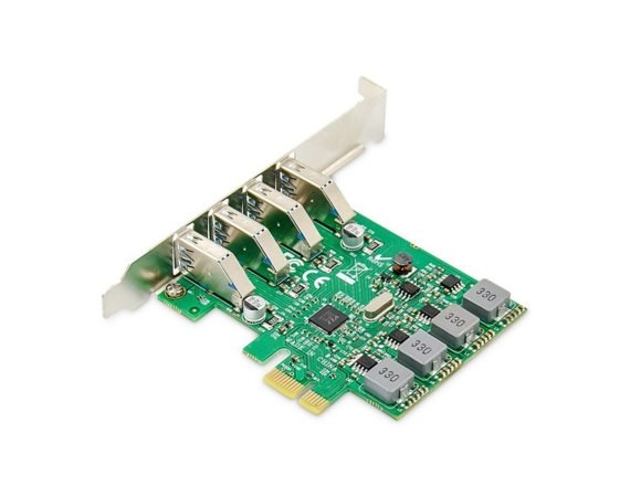 Digitus Karta rozszerzeń (Kontroler) USB 3.0 PCI Express 4xUSB 3.0 Low Profile Chipset: VL805
