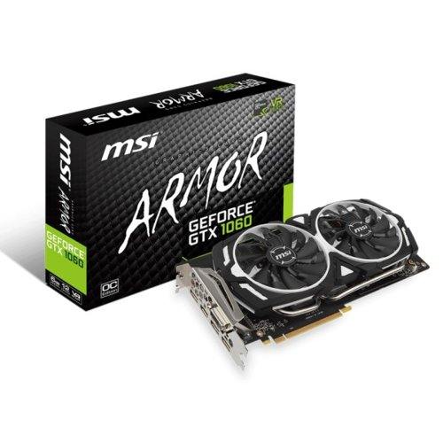 MSI GeForce GTX 1060 ARMOR OCV1 6GB 192BIT DVI/2HDMI/2DP