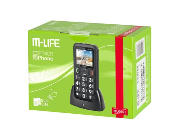 M-LIFE  TELEFON DLA SENIORA DUAL SIM , COLOR DISPLAY