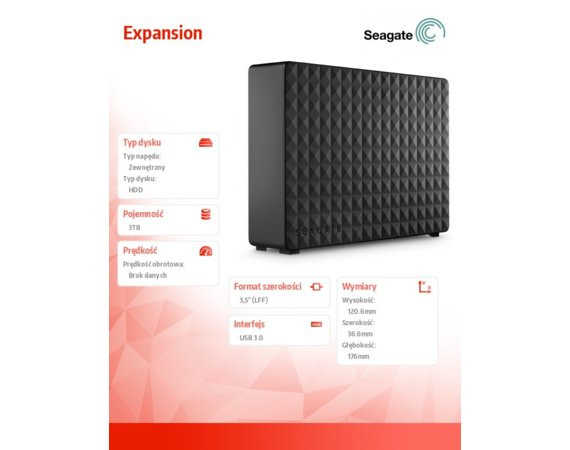 Seagate Expansion 3TB 3,5 STEB3000200 Black