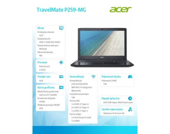 Acer TravelMate P259-MG  NX.VE2EP.005