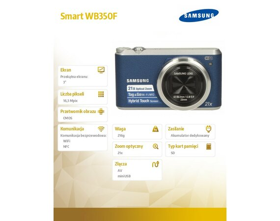 Samsung Smart WB350F blue