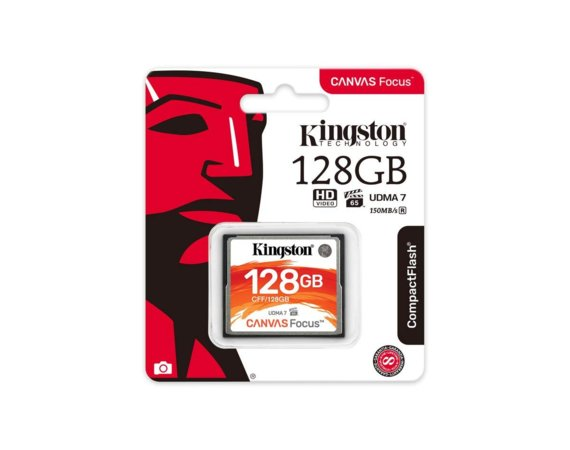 Kingston Karta pamięci CompactFlash Canvas Focus 128GB  150R/130W UDMA7 VPG-65