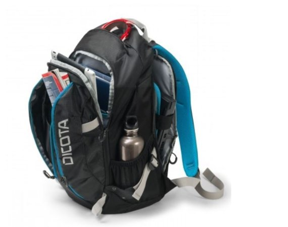 DICOTA Backpack Active XL 15-17.3'' black/blue