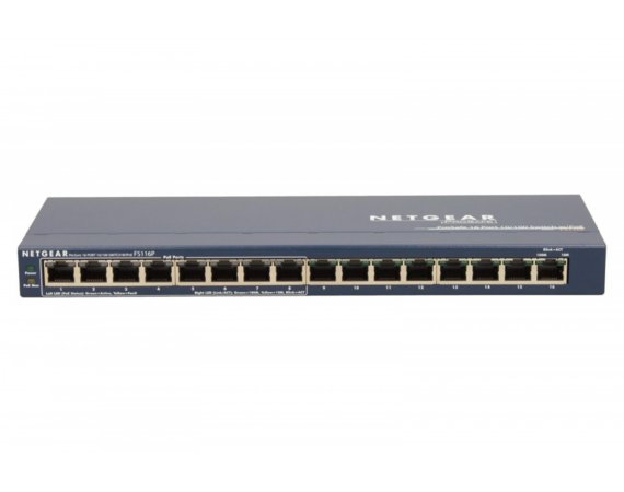 Netgear Switch Unmanaged 16xFE (8xPoE) - FS116PEU