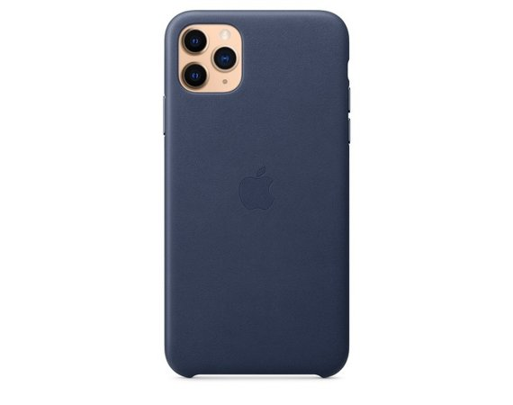Apple Skórzane etui do iPhone 11 Pro Max - nocny błękit