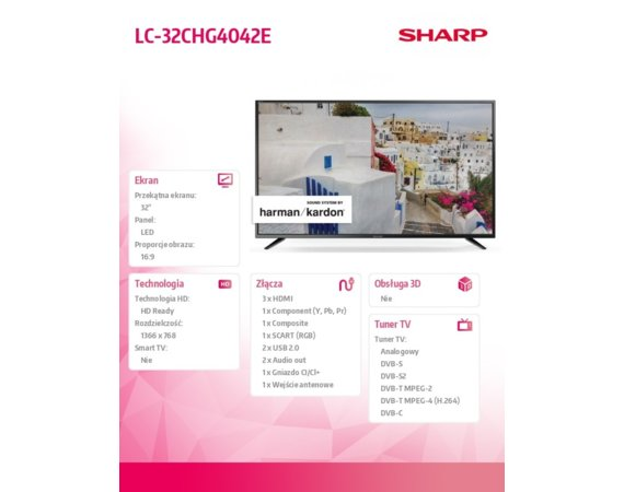 Sharp 32'' LED  LC32CHG4042E