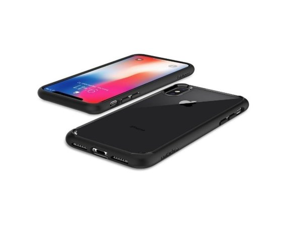 SPIGEN SGP  Ultra Hybrid Matte Black etui iPhone X