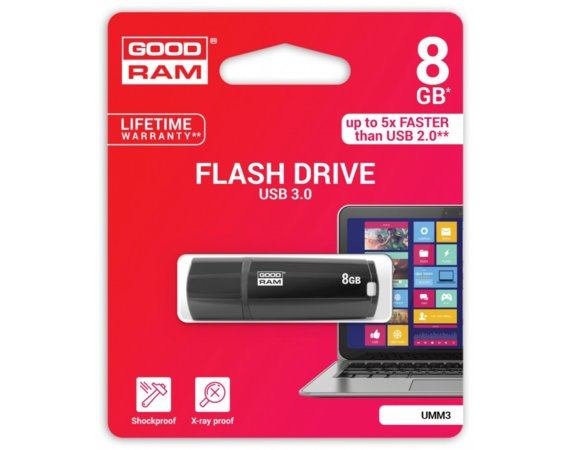 GOODRAM MIMIC  8GB USB3 BLACK