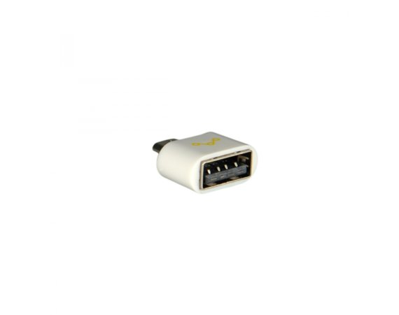 Whitenergy Adapter USB 2.0 OTG Biały