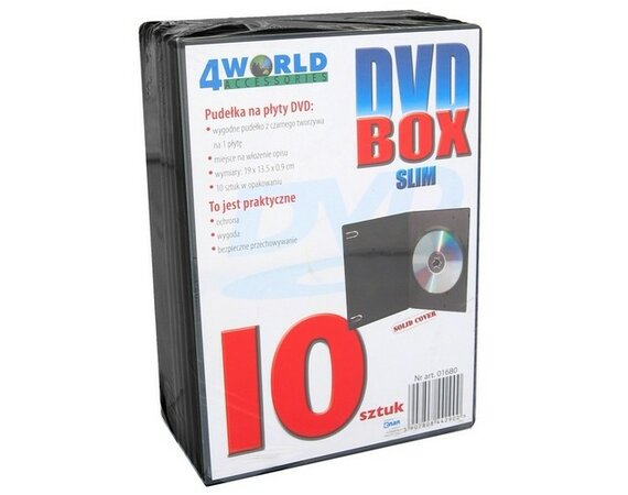 4world DVD Box 9 mm, 10 szt.