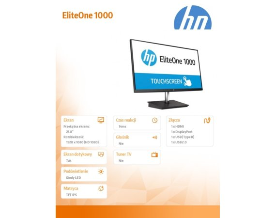 HP Inc. Monitor 23.8 EliteOne 1000 FHD Touch ITL 2SC23AA