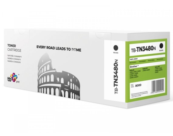 TB Print Toner do Brother TN3480 TB-TN3480N BK 100% nowy