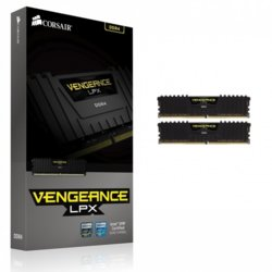 Corsair DDR4 Vengeance LPX 16GB/2666(2*8GB) CL16-18-18-35 BLACK 1,20V                                                                                 XMP 2.0