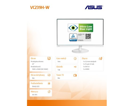 Asus Monitor 23 VC239H-W