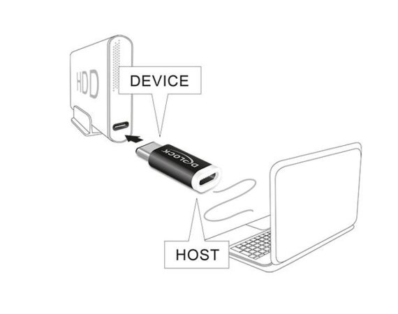 Delock Adapter USB Type-C(M)->Micro-B(F) 2.0