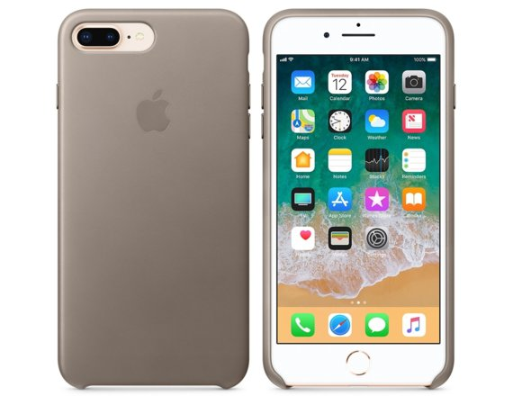 Apple iPhone 8 Plus / 7 Plus Leather Case - Taupe