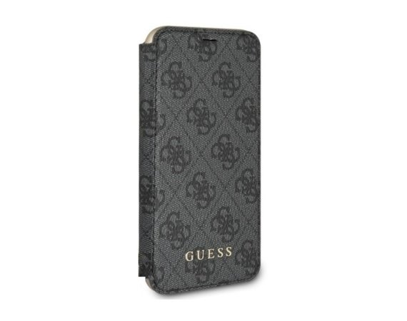 GUESS Etui book GUFLBKI8LGF4GGR iPhone 7/8 Plus szary 4G Charms Collection