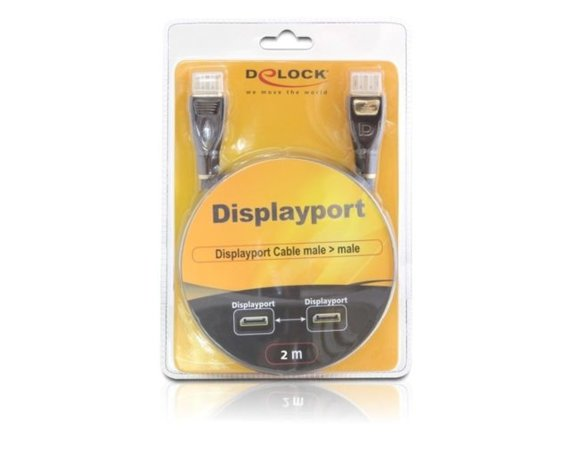 Delock Kabel DISPLAYPORT M-> DISPLAYPORT M 2M GOLD