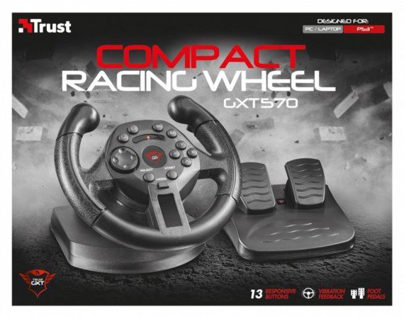 Trust GXT 570 Compact Vibratiion Racing Wheel