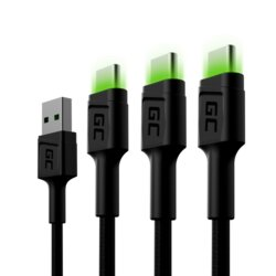 Green Cell Kabel 3x GC Ray USB-C