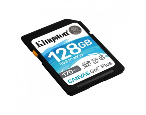 Kingston Karta microSDXC 128GB Canvas Go Plus 170/90MB/s Adapter