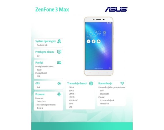Asus ZC553KL-4G019WW MSM8937/3/32/DS/8MP/16MP