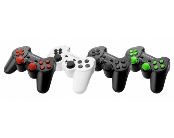Esperanza GAMEPAD PS3/PS3/PC USB CORSAIR CZARNO/ZIELONY