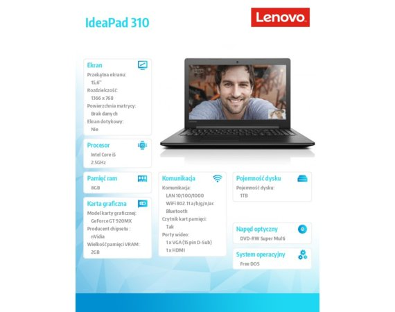 Lenovo IdeaPad 310-15IKB 80TV019HPB
