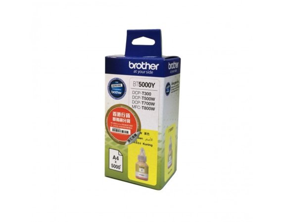 Brother Tusz BT5000Y Yellow 5k do DCP-T300, DCP-T500W