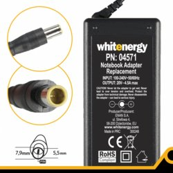 Whitenergy Zasilacz 4571 20V | 4.5A 90W wtyk 7.9*5.5mm + pin IBM