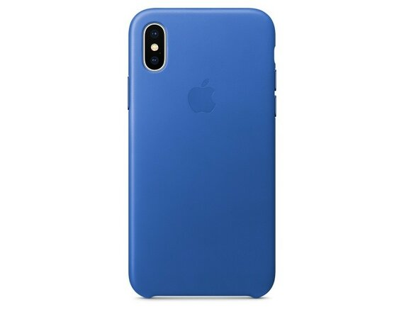 Apple iPhone X Leather Case - Electric Blue