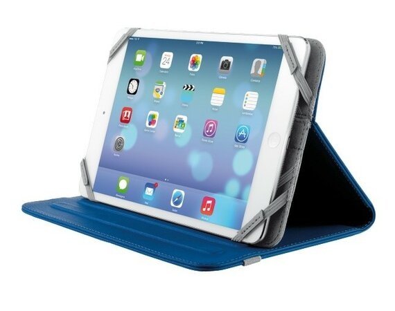 "Trust Verso Universal Folio Stand for 7-8"" tablets - blue"