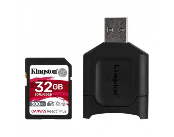 Kingston Karta pamięci SD  32GB React Plus 300/260MB/s czytnik MLP