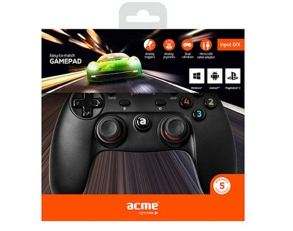 ACME Europe Gamepad GA09 Digital do PC/PS3/Android