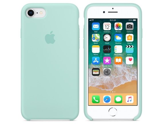 Apple iPhone 8 / 7 Silicone Case - Marine Green