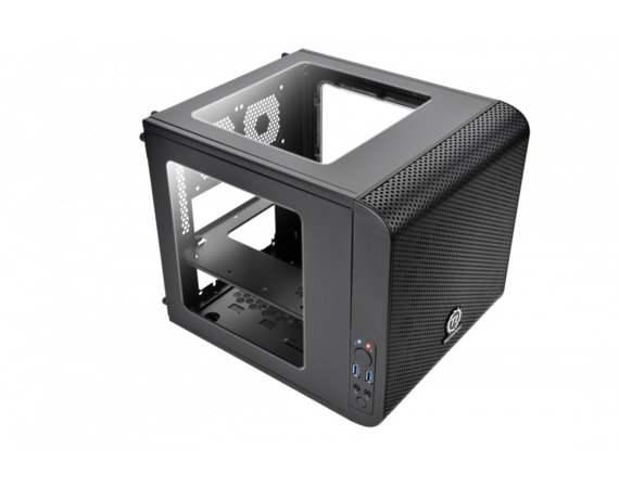 Thermaltake Core V1 MiniITX IS USB3.0 Window (1x200mm), czarna